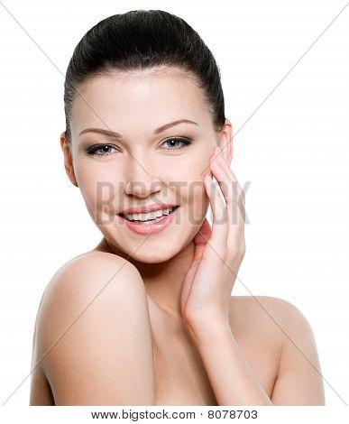 schöne gesunde Frau Gesicht