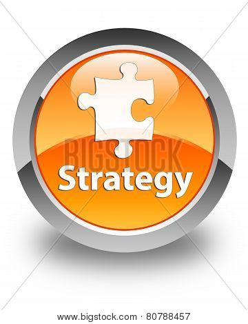 Strategy Glossy Orange Round Button