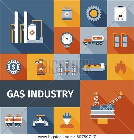 Gas Icon Flat