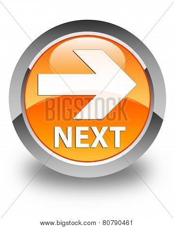 Next Glossy Orange Round Button