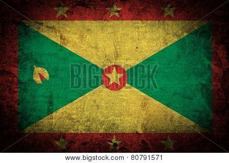 Grunge Grenada Flag