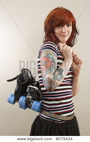 Roller Derby Skater Girl