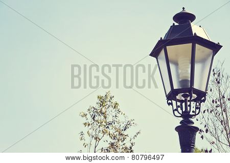 vintage springy streetlight
