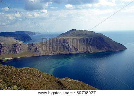 Lake Baikal and siberian mountains