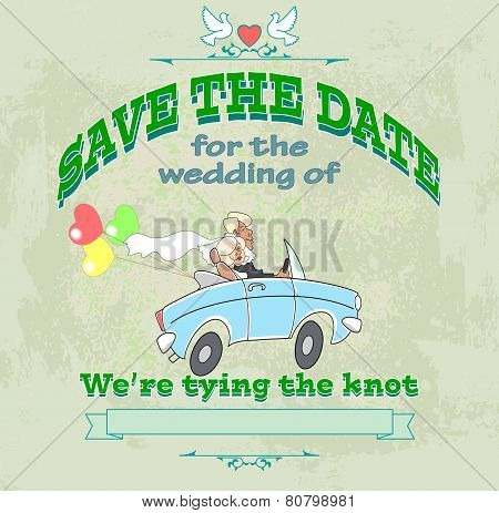 Marriage Label Car