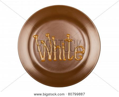 Drawing Chocolate On A Plate