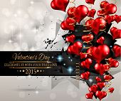 image of san valentine  - San Valentines Day background for dinner invitations - JPG