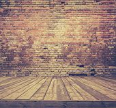 pic of brick block  - old room with brick wall - JPG