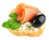picture of olive shaped  - Canape salmon - JPG