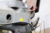 image of crane hook  - crane in the steel shop - JPG