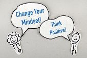 picture of positive thought  - motivating inspiring phrases change your mindset and think positive - JPG