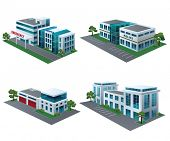 pic of fire-station  - Set of perspective community buildings - JPG