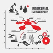 stock photo of petroleum  - Petroleum and oil industry vector design infographic - JPG
