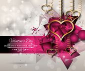 foto of san valentine  - San Valentines Day background for dinner invitations - JPG