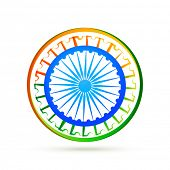 picture of indian flag  - indian flag design concept with wheel - JPG
