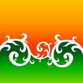 stock photo of indian flag  - creative floral style background with indian flag colors - JPG