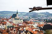 pic of trough  - Special trough with beautiful town form top view background in Czech Republid - JPG