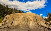 picture of mammoth  - Orange Spring Mound at Mammoth Spring in Yellowstone National Park - JPG