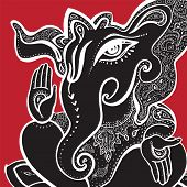 picture of hindu-god  - Hindu God Ganesha - JPG