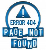picture of not found  - Page not found concept image with text and exclamation mark symbol - JPG