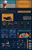 image of dragster  - Set of motorcycles elements transportation infographics - JPG