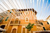 picture of calatrava  - Festive decoration of the building in Santanyi town - JPG