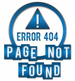 foto of not found  - Page not found concept image with text and exclamation mark symbol - JPG