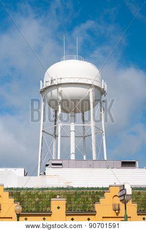 Water Tower In Downtown