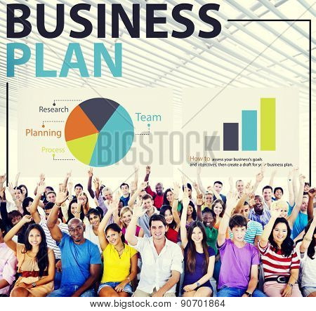 Business Plan Strategy Planning Information Statistics Concept