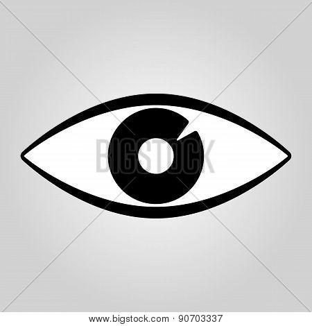 The Eye Icon. Eye Symbol. Flat Vector
