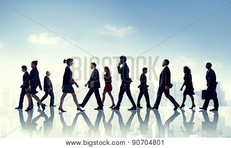 Colleague Business Corporate Office Urban Scene Team Concept