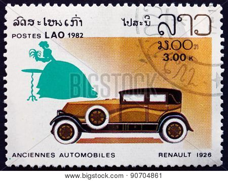 Postage Stamp Laos 1982 Renault 1926