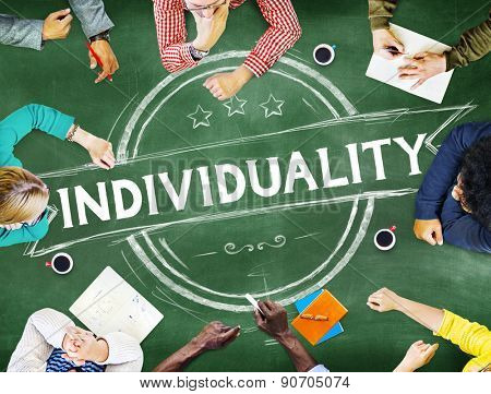 Individuality Character Different Independence Person Concept