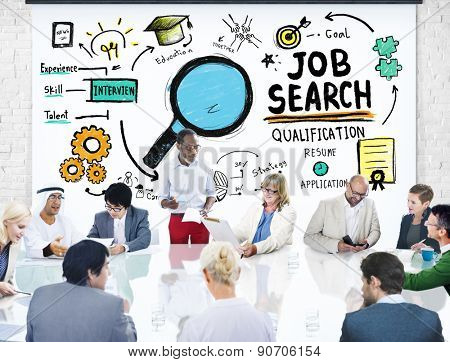 Business People Meeting Discussion Job Search Concept