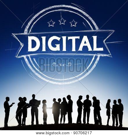 Business People Digital Banner Concept