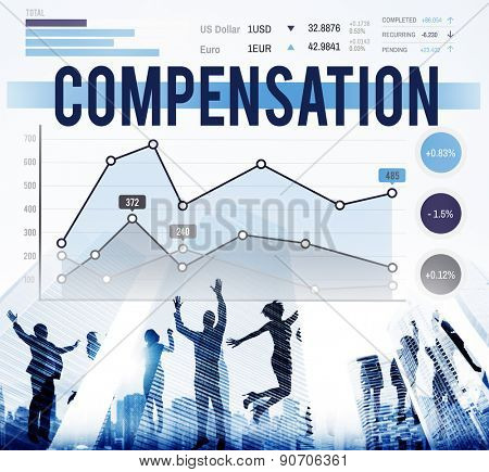 Compensation Gain Profit Marketing Business Concept