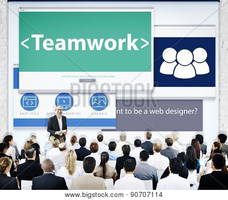 Group of Business People Seminar Teamwork Concept