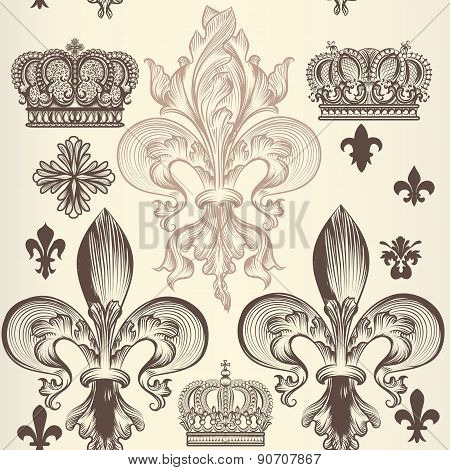 Retro Ornamental Seamless Pattern