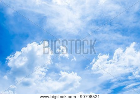 Abstract fluffy Clouds and blue sky background