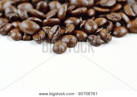 Coffee beans - solated on a clean white background