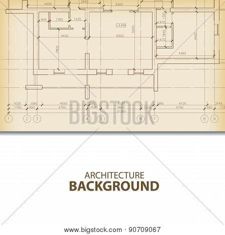 Architecture blueprint background fragment