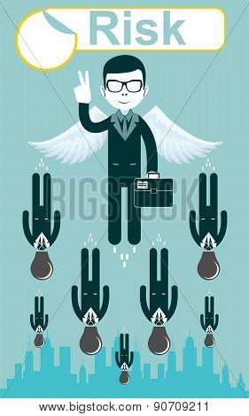 Business risks. Vector