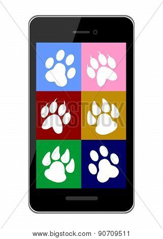 pet trail and smart phone