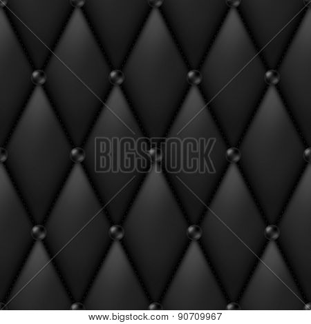 Black Luxury Leather Upholstery seamless pattern