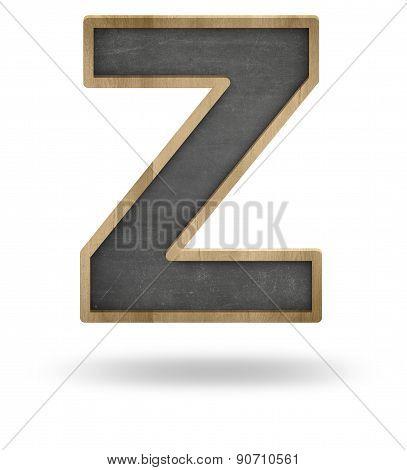 Black blank letter Z shape blackboard