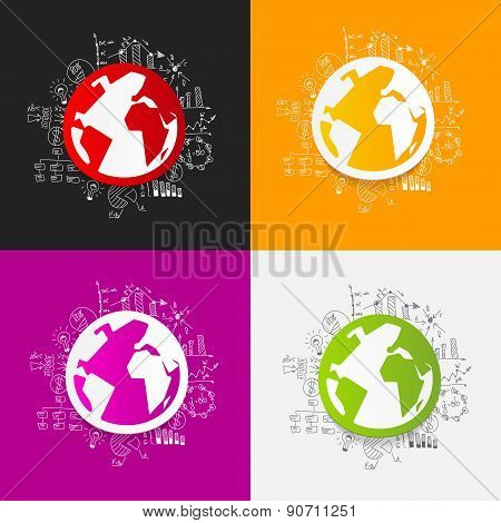 Drawing business formulas: globe