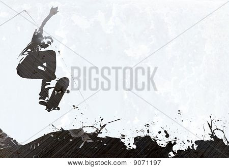 Skateboarding Grunge Layout