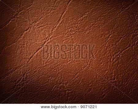 Brown Leatherette Background
