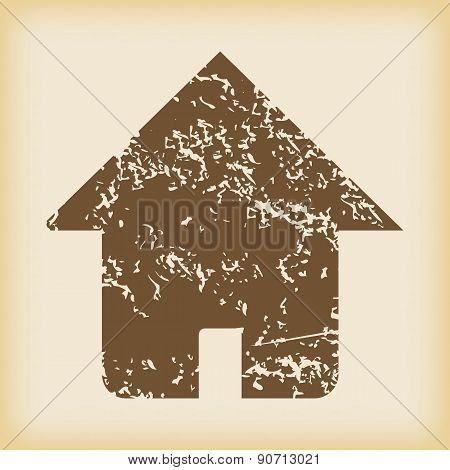 Grungy house icon