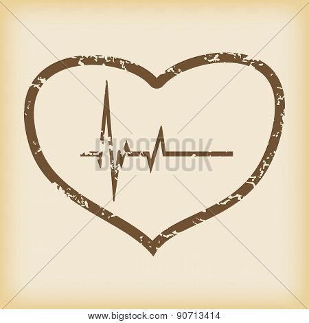 Grungy cardiology icon
